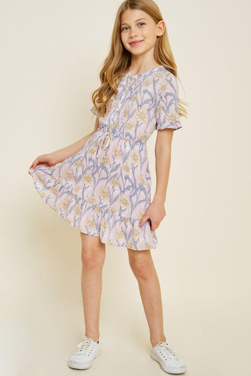 Floral Button-Down Ruffle Mini Dress  Dresses for tweens, Girls
