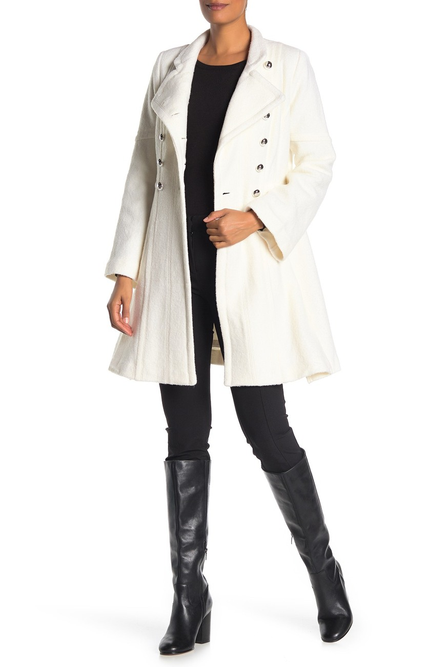 GUESS | Military Double-Breasted Skirted Coat | Nordstrom Rack #nordstromrack