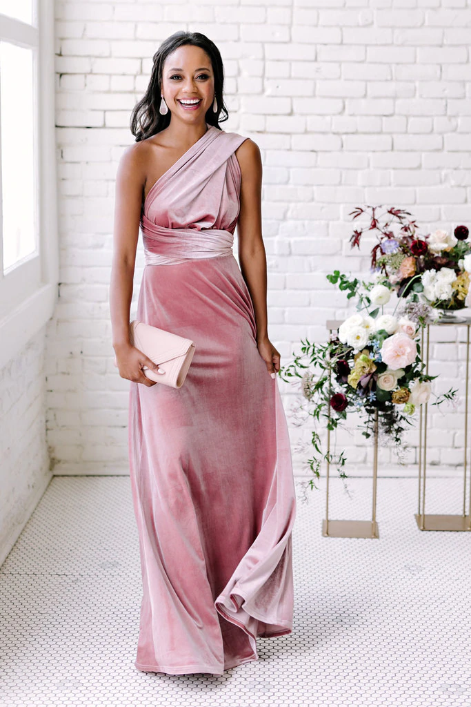 Micah Convertible Velvet Dress In 2020 Hering