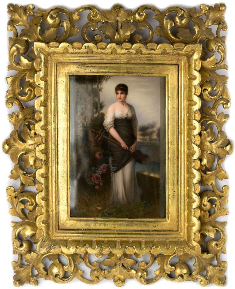 Konigliche Porzellan Manufaktur Kpm A Kpm Plaque Of Muse Antique Picture Frames Art Painting