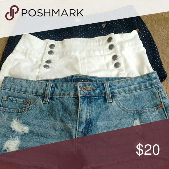 3 pairs shorts Good condition worn couple time don't fit anymore Forever 21 Shorts Jean Shorts