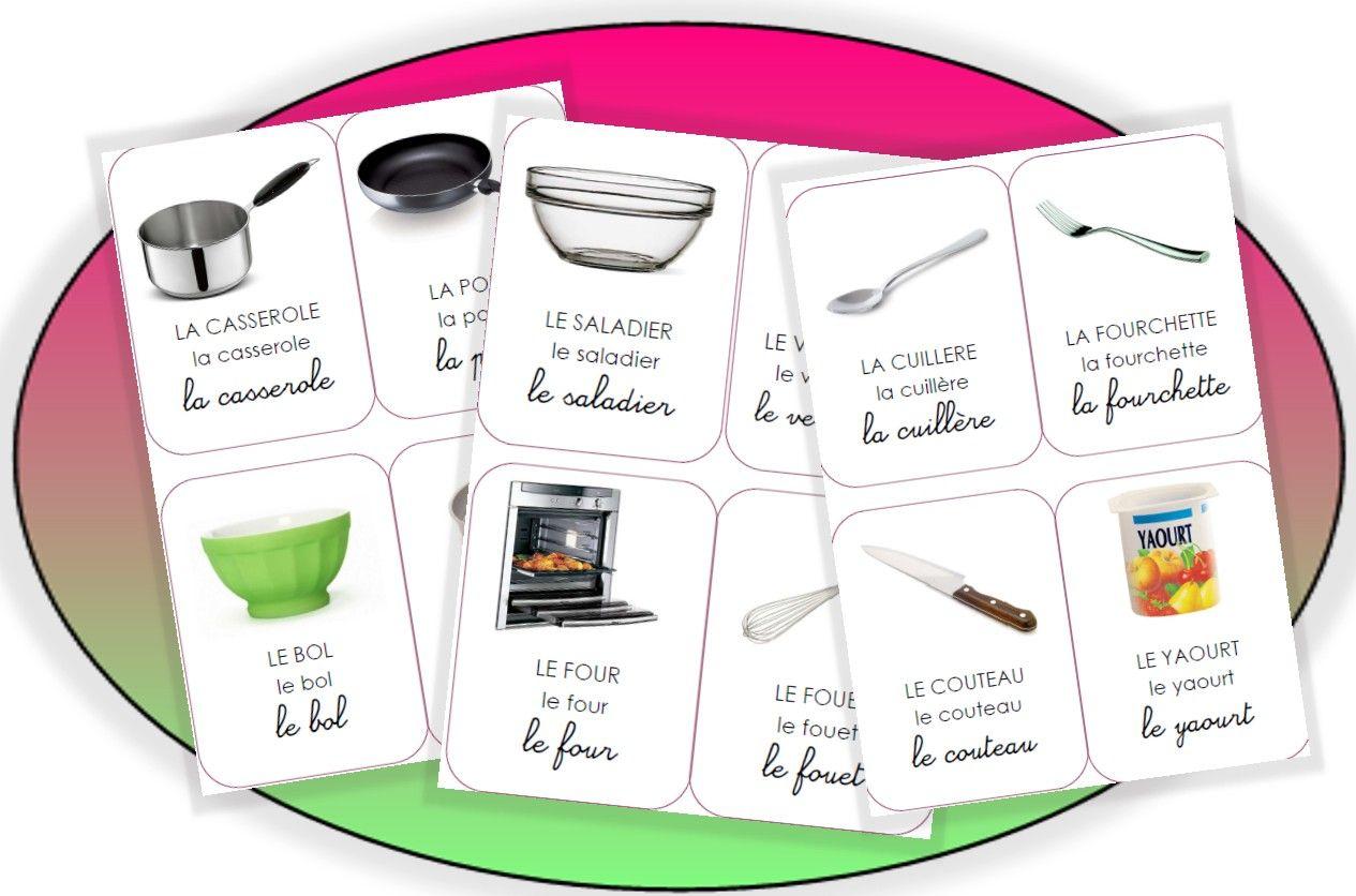 Imagier imprimer la cuisine maternelle pinterest for Vocabulaire de cuisine