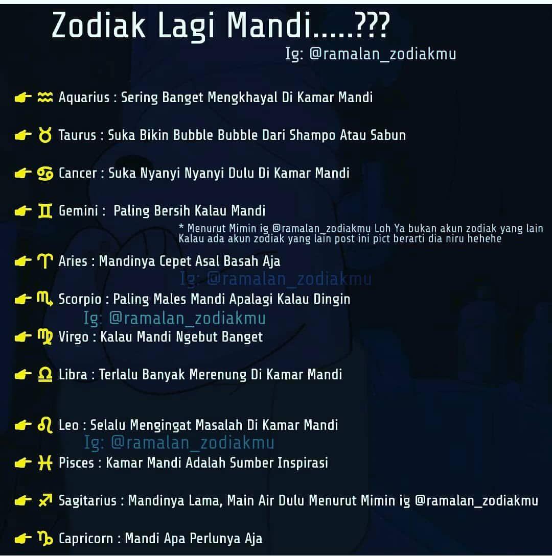 Zodiakmu Kalau Lagi Mandi Gimana Tag Orangnya Aktifkan Pemberitahuan Agar Kamu Selalu Update Postingan Mimin Zodiak Zod Gemini Taurus Fakta Zodiak