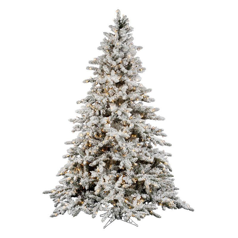 vickerman 9 ft flocked slim utica fir multi led christmas tree a895082led