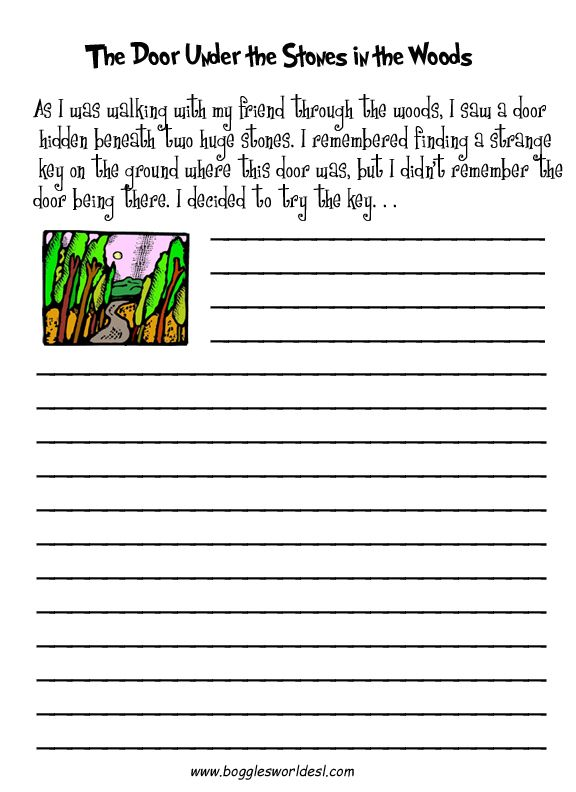 Writing Worksheets   Free Printable Writing Prompt Worksheet for  Kindergarten through