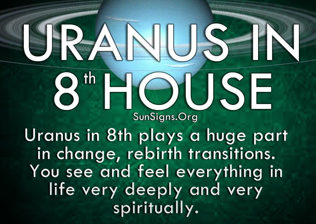 With Uranus In 8th House In Your Horoscope There Is Always Meaning And Purpose Behind Everything You Do Uranus In 8th House Uranus Horoscope