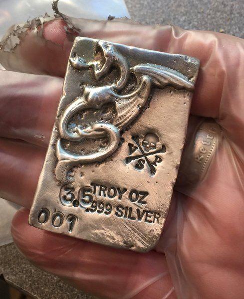 3 5 Oz Bar 999 Fine Silver Bullion Dragon Mermaid