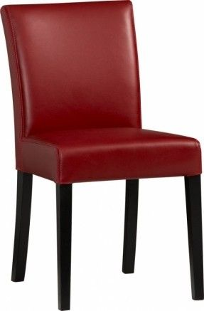 High Quality Lowe Red Leather Side Chair In Dining Chairs | Crate And Barrel