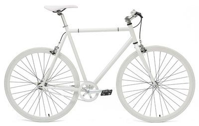 General Bikes All White 54 Cm Fixed Gear Bike Cycling Speed Bike