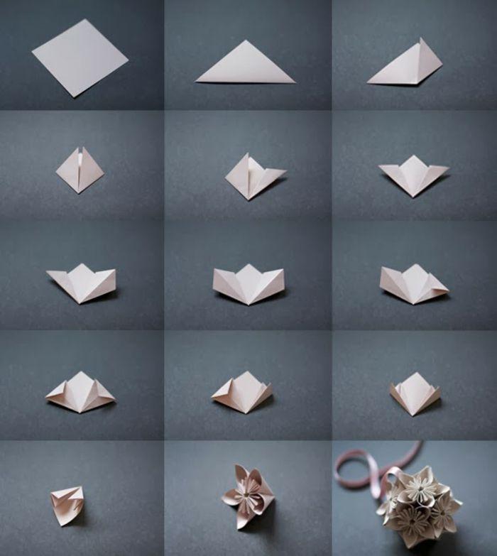 Charmant Comment Faire Des Origamis En Papier #14: Comment Faire Une Fleur En Papier Façon Kusudama, Bricolage Facile Avec  Papier