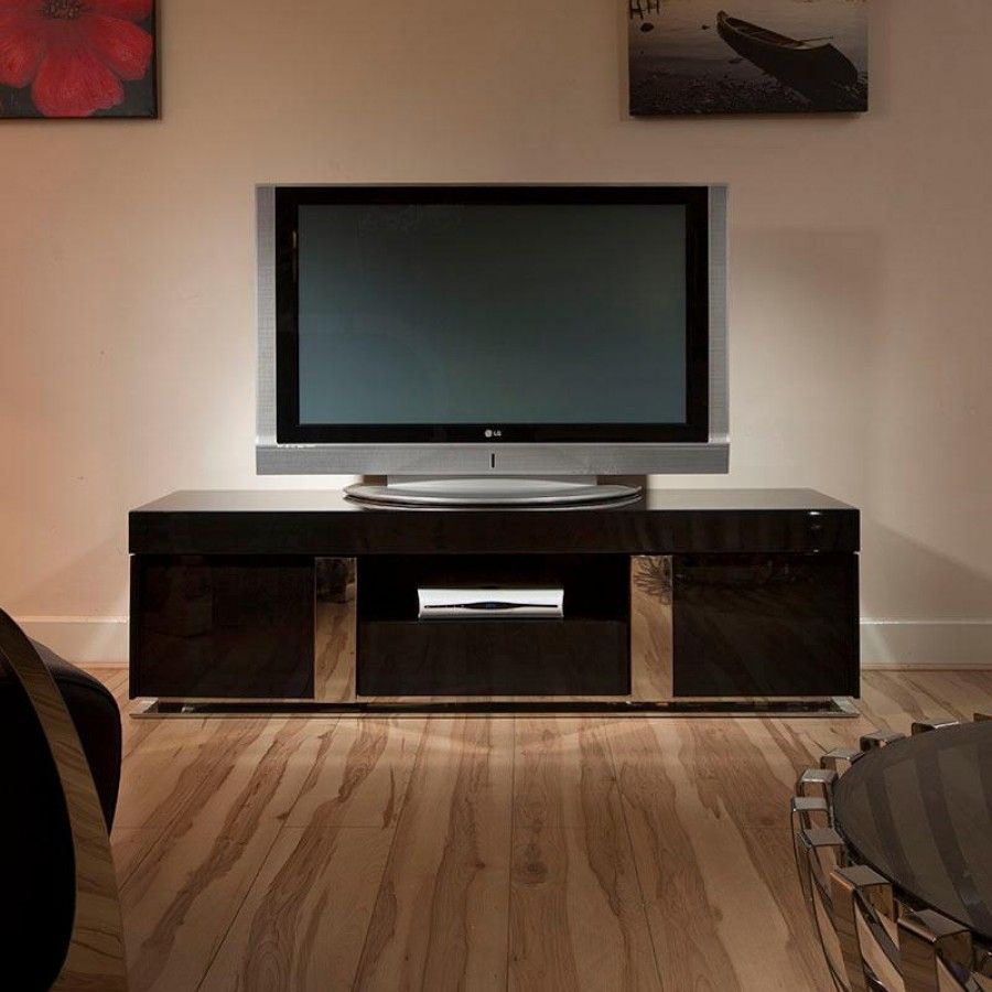 tv standcabinetunit large  metre black gloss stainless modern  - s number one supplier of designer tv stands