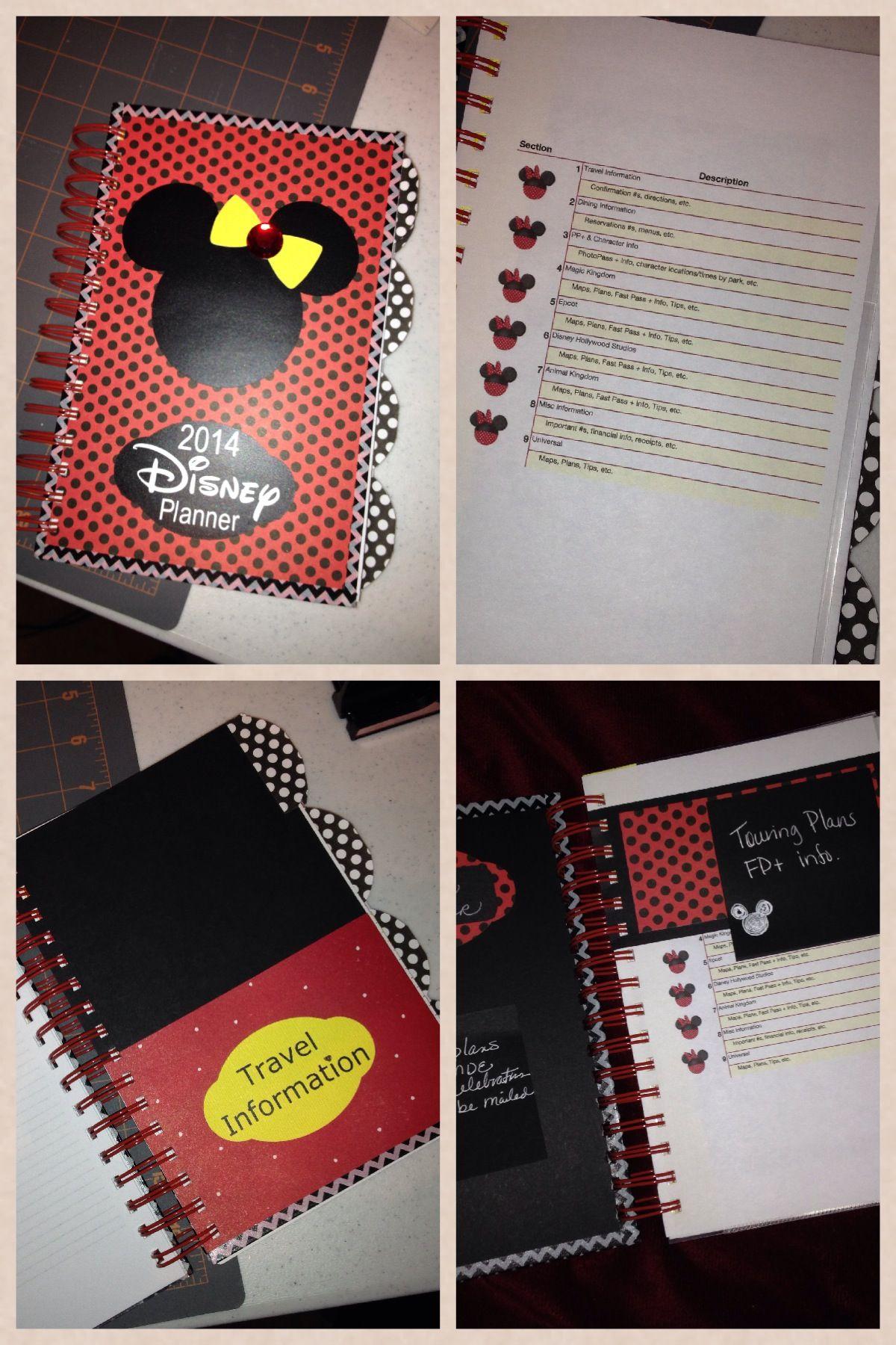 Disney planning binder / planner that I made. I used ...