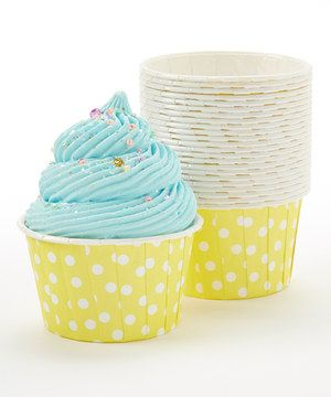 Loving this Yellow Polka Dot Bake Cup - Set of 24 on #zulily! #zulilyfinds