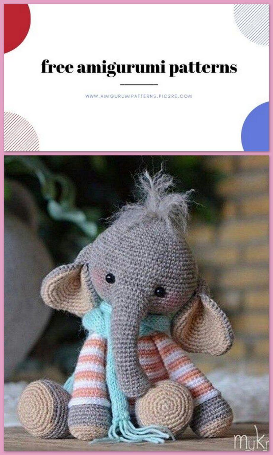 Esther the Elephant | Recipe | Crochet elephant pattern, Crochet ... | 1536x922