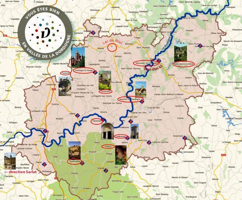 Campsite France Correze Carte De La Vallee