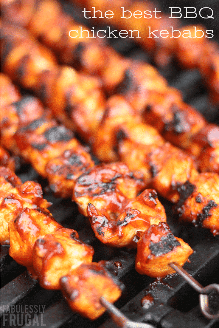 AMAZING BBQ Chicken Skewers Fabulessly Frugal | Recipe