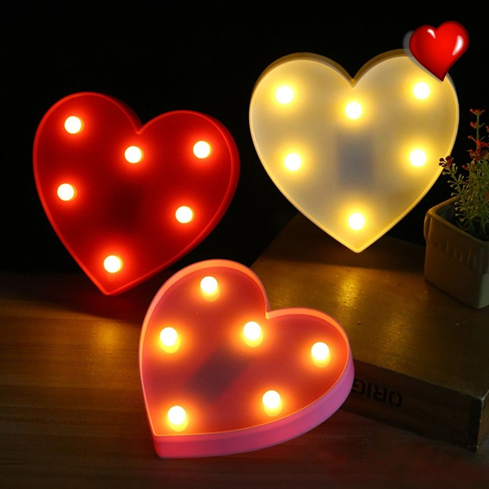Heart Shaped Decorative Nights Lamps Price 8 76 Free Shipping Heartlover Heart Lamp Led Night Light Night Light