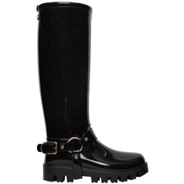 Dolce & Gabbana Women 30mm Pvc Rain Boots (£450) ❤ liked on Polyvore