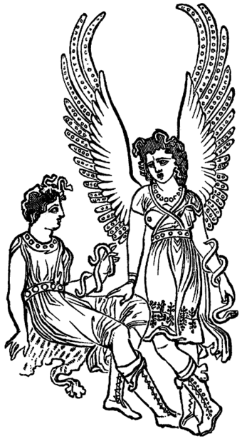Two Furies, from a nineteenth-century book reproducing an