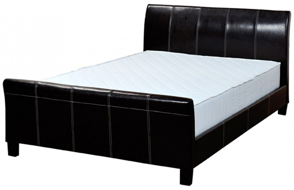 black leather wood bed frames with boxspring | ... Design Ideas With ...