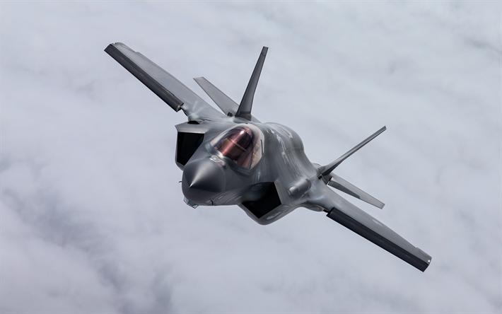 Download wallpapers F35A, Lockheed Martin F35 Lightning
