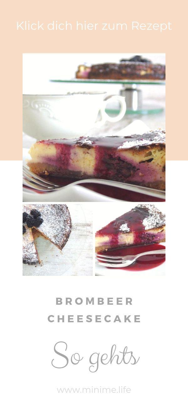 Saftiger Brombeer Cheesecake
