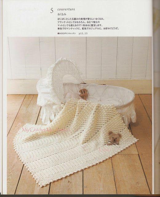 PATRONES GRATIS DE CROCHET: Patrón manta bebe a crochet | crochet ...