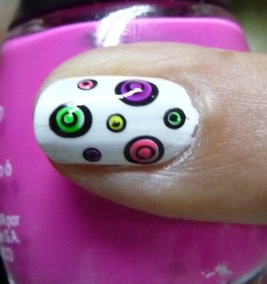 Tutorial decoracion de uñas facil (Lluvia Color) | Mis uñas | Pinterest
