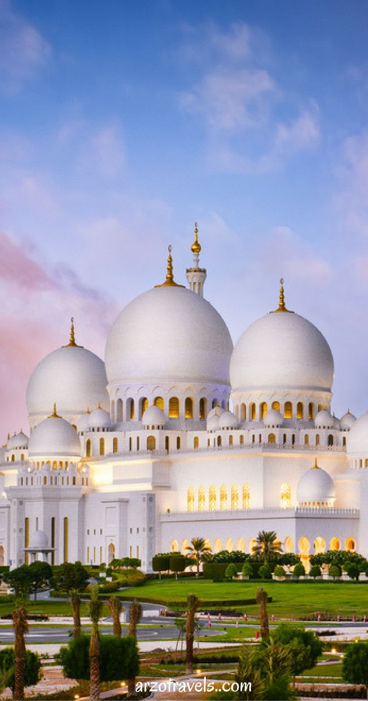 Travel Highlight Sheikh Zayed Grand Mosque in Abu Dhabi