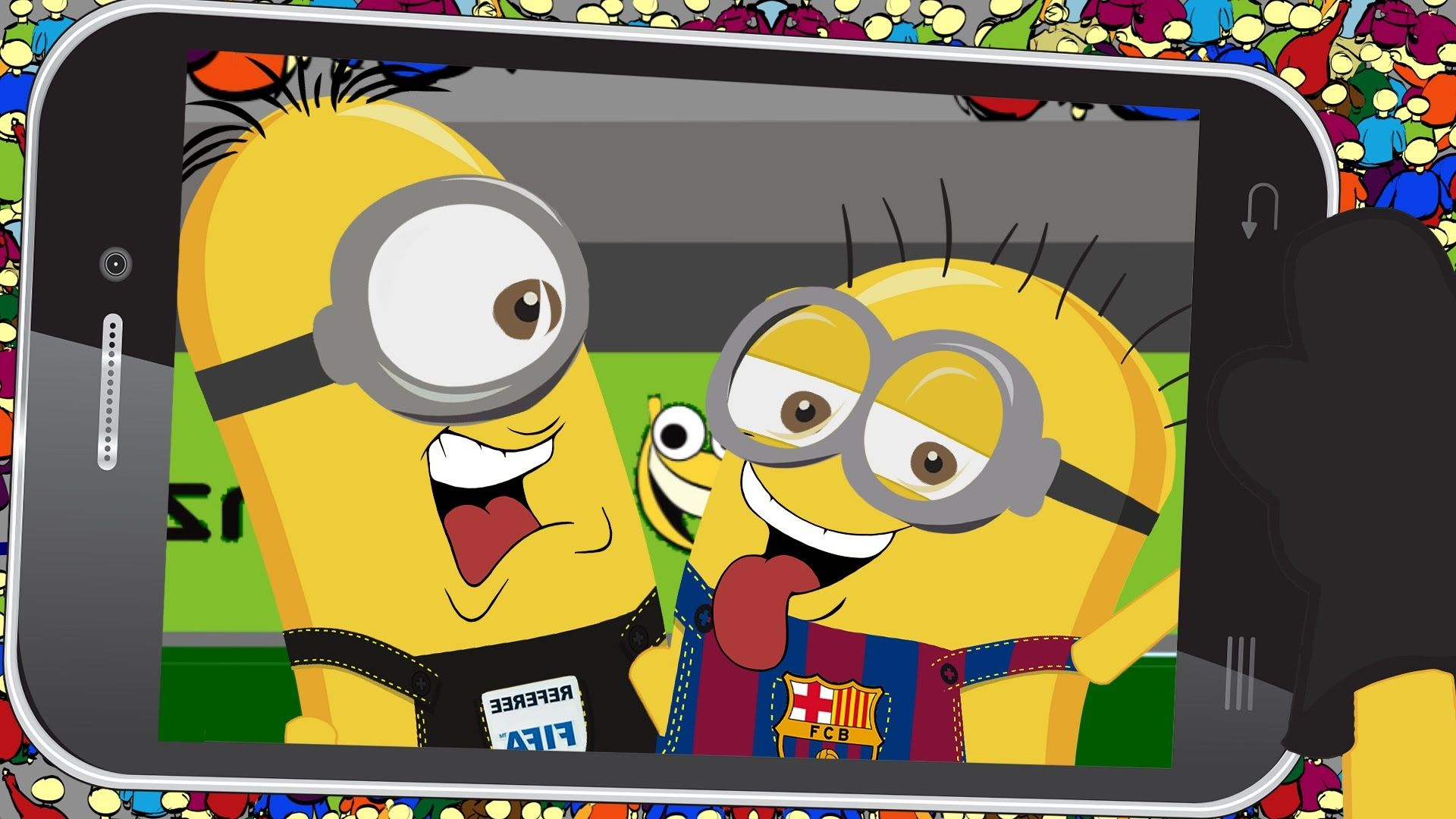barcelona vs real madrid minions football game funny