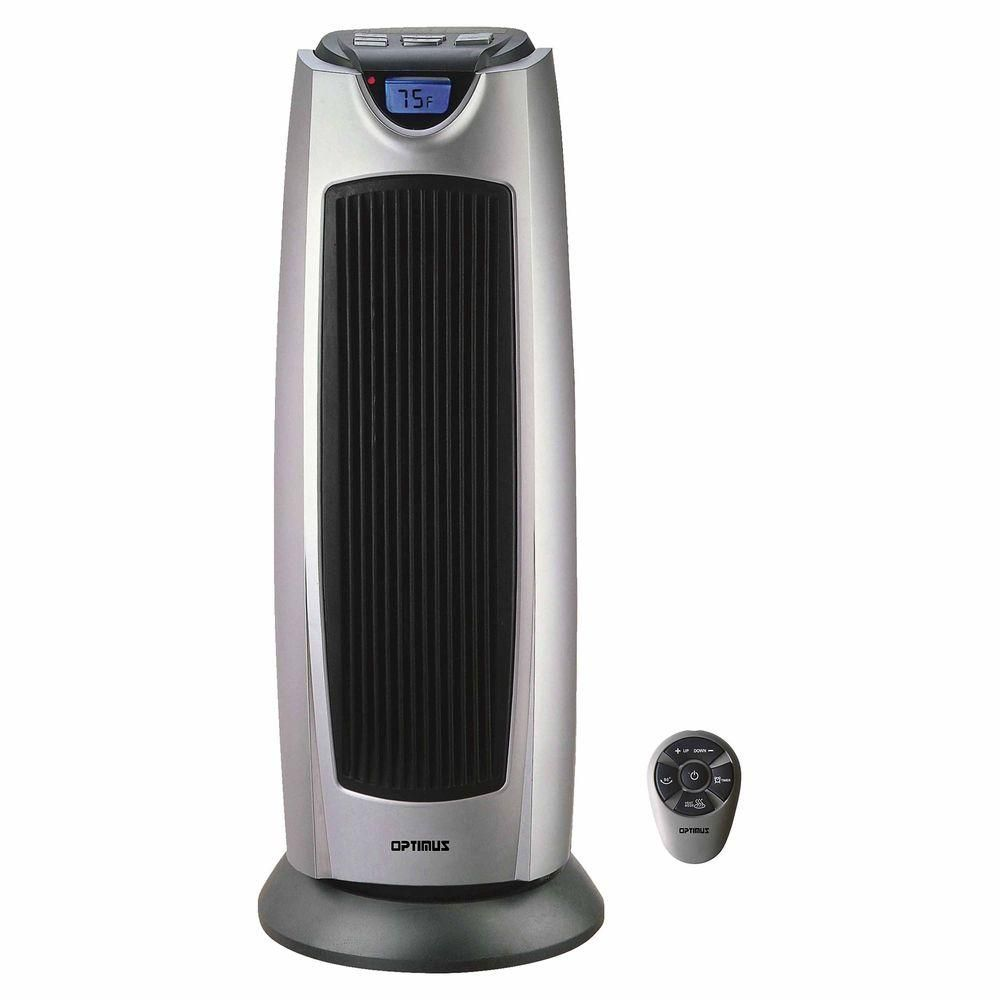 21 In 750 Watt To 1500 Watt Oscillating Tower Heater With Digital