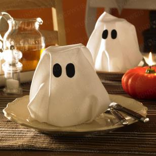halloween spukende geisterservietten trick or treat pinterest pliage serviette pliage. Black Bedroom Furniture Sets. Home Design Ideas