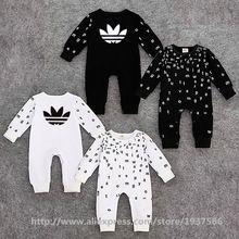 7c2fa3c5e7155 Nouveau - né bébé garçon vêtements carters marque coton barboteuse de bébé  à manches longues printemps automne mode vêtements pour filles infantile ...