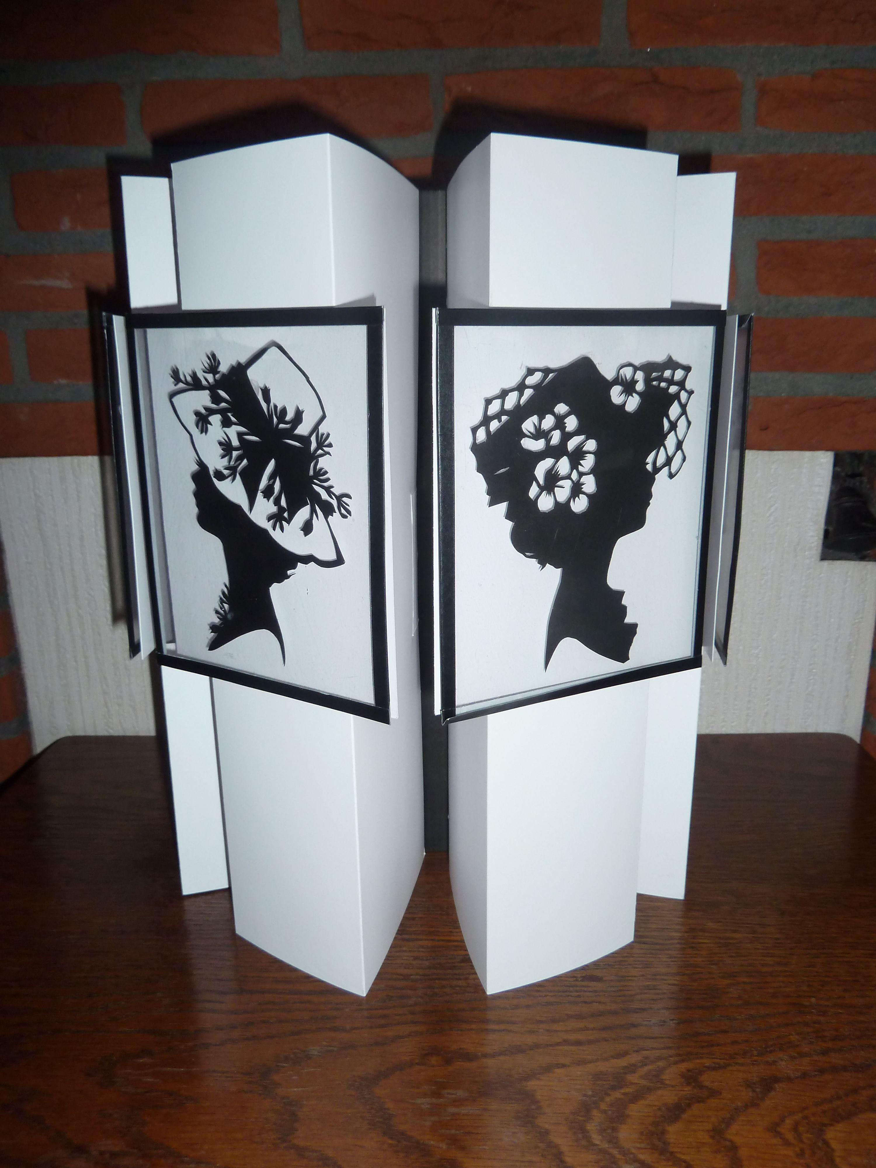 T-Book met zwart-wit knipwerk