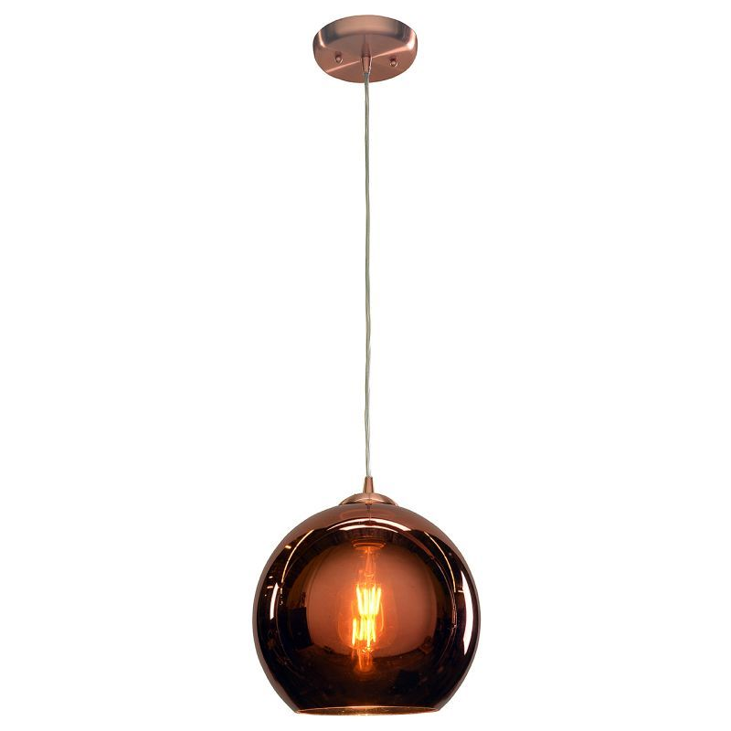 Access lighting 28101 bcpcp glow 1 light pendant 10 wide with access lighting 28101 bcpcp glow 1 light pendant 10 wide with copper glass s brushed copper indoor lighting pendants glass shades aloadofball Choice Image