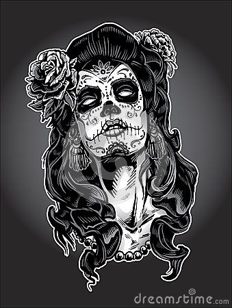 86e4226df Day of the Dead gypsy woman with Sugar Skull Face Paint. | my ...