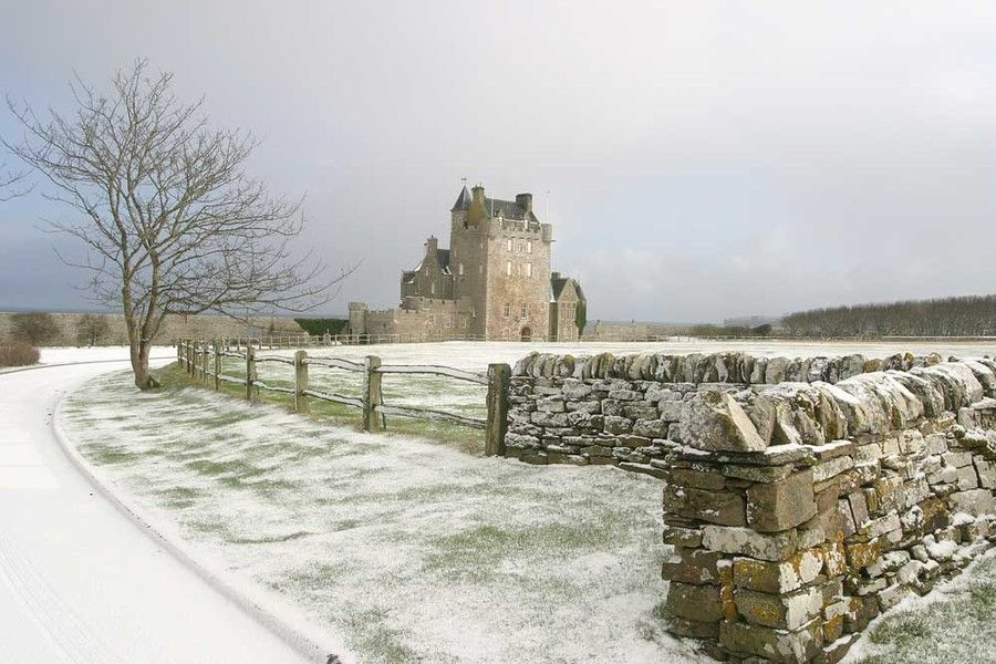 Castle Sinclair Girnigoe is a castle located about 3 miles