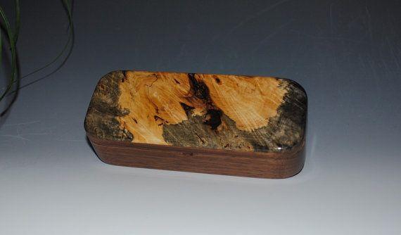 Handmade Wooden Pen Box in Natural Black Walnut by BurlWoodBox, $39.00