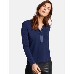 Langarmshirt mit Satinblende Blau Gerry WeberGerry Weber #shouldertops
