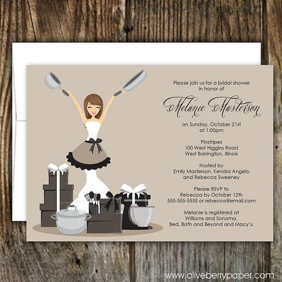 Happy Homemaker Bridal Shower Invitations by OliveBerryPaper