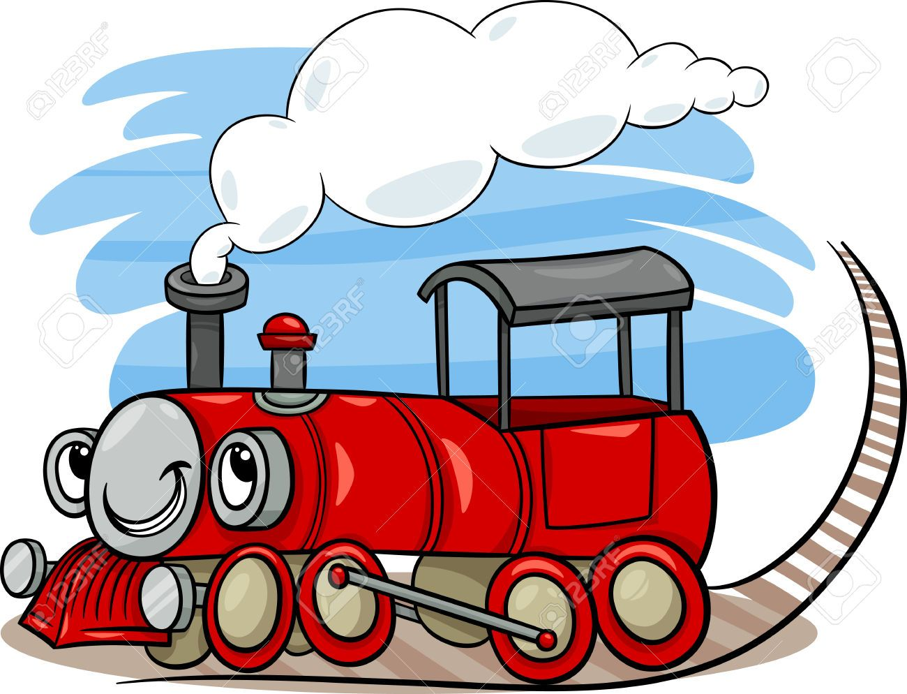 Image result for cartoon steam trains