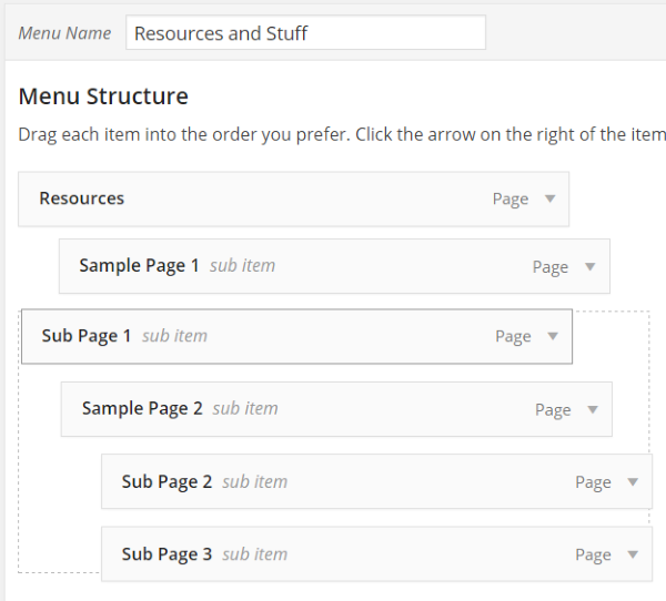How To Create Custom Menu Structures In Wordpress  Handling Sub
