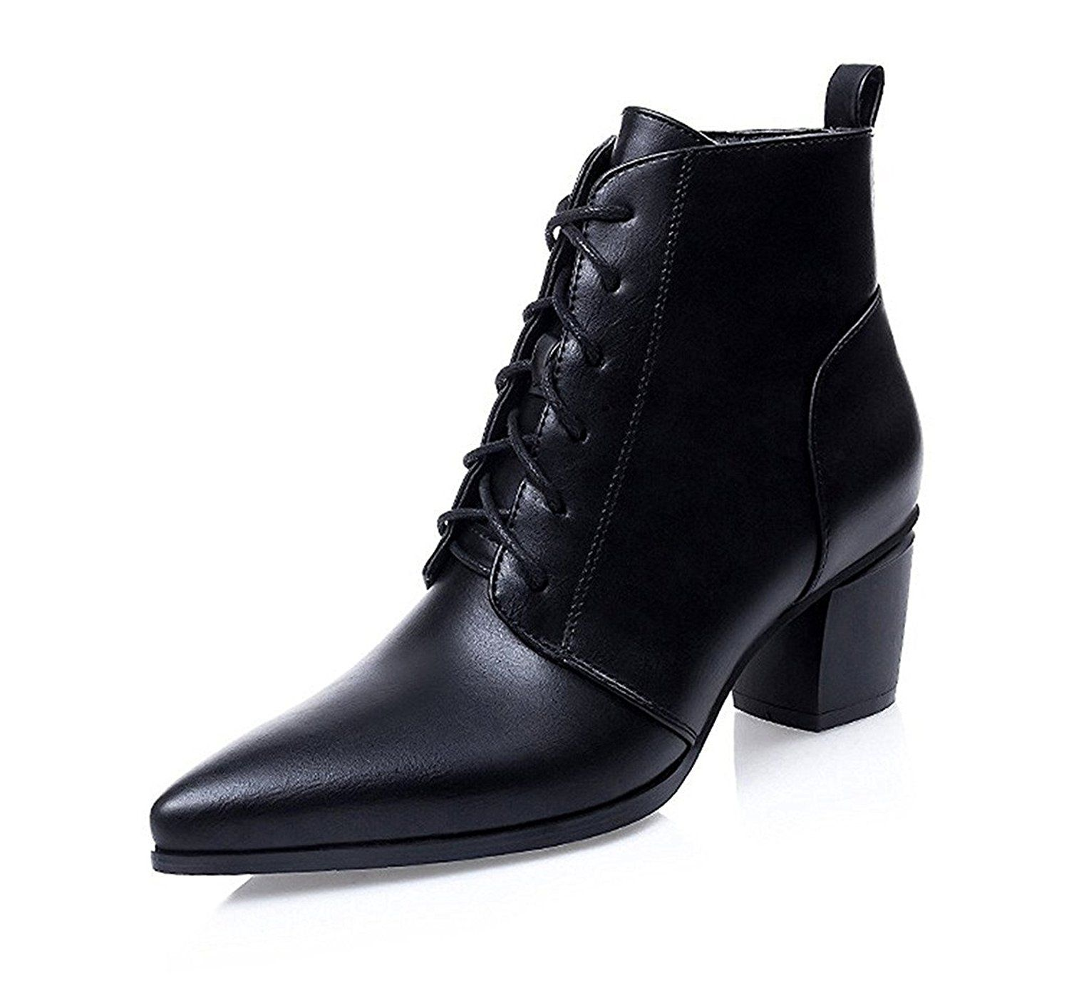 CLOSED MID HEEL BOOT - Classic ankle boots - black 6iGCG