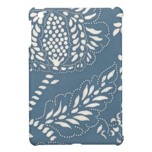 Cute Vintage Blue White Wallpaper iPad Mini Cases you will