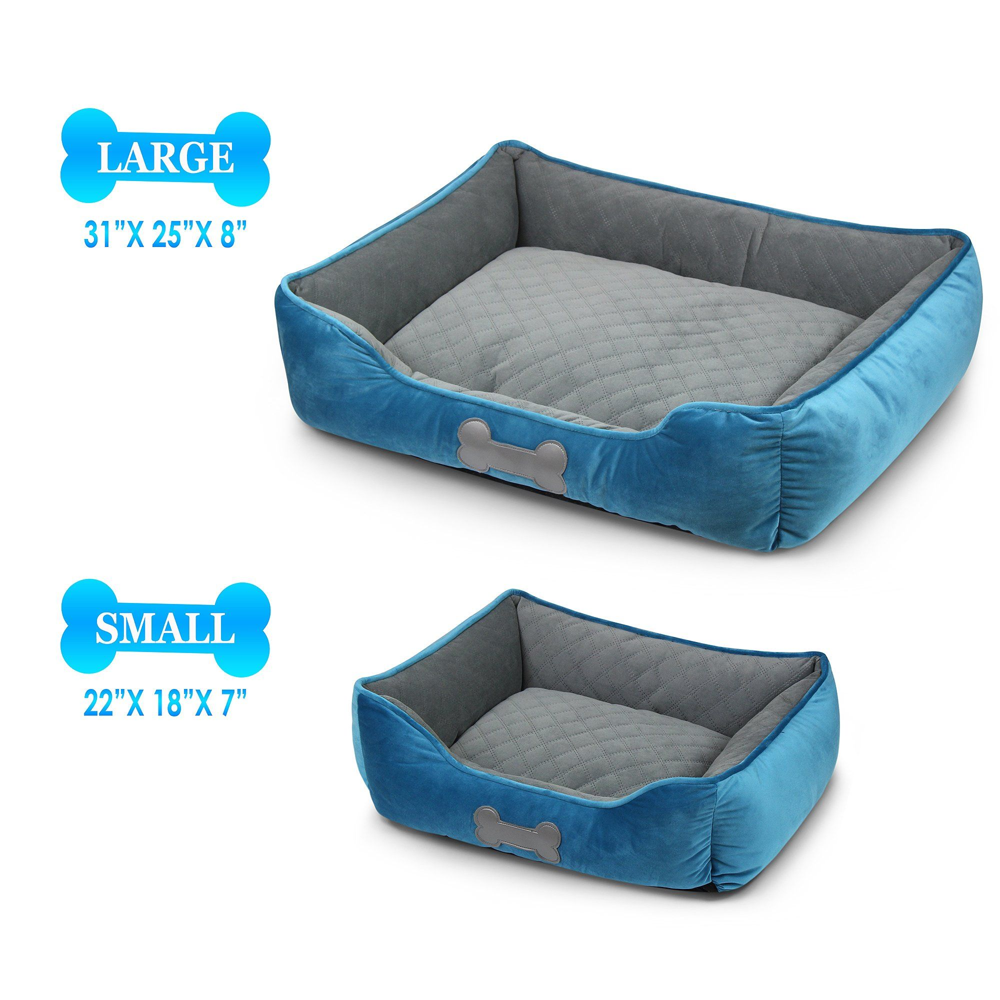Super Soft Plush Cuddler Blue Plush, Pet beds, Blue