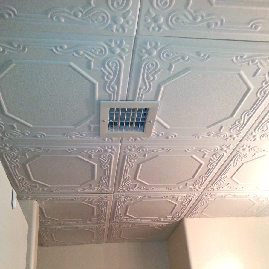 The most common overlooked space when remodeling is the ceiling add smallfineprint installing ceiling tiles for cheap and easy but awesome lookquality and great for covering up plaster dailygadgetfo Image collections