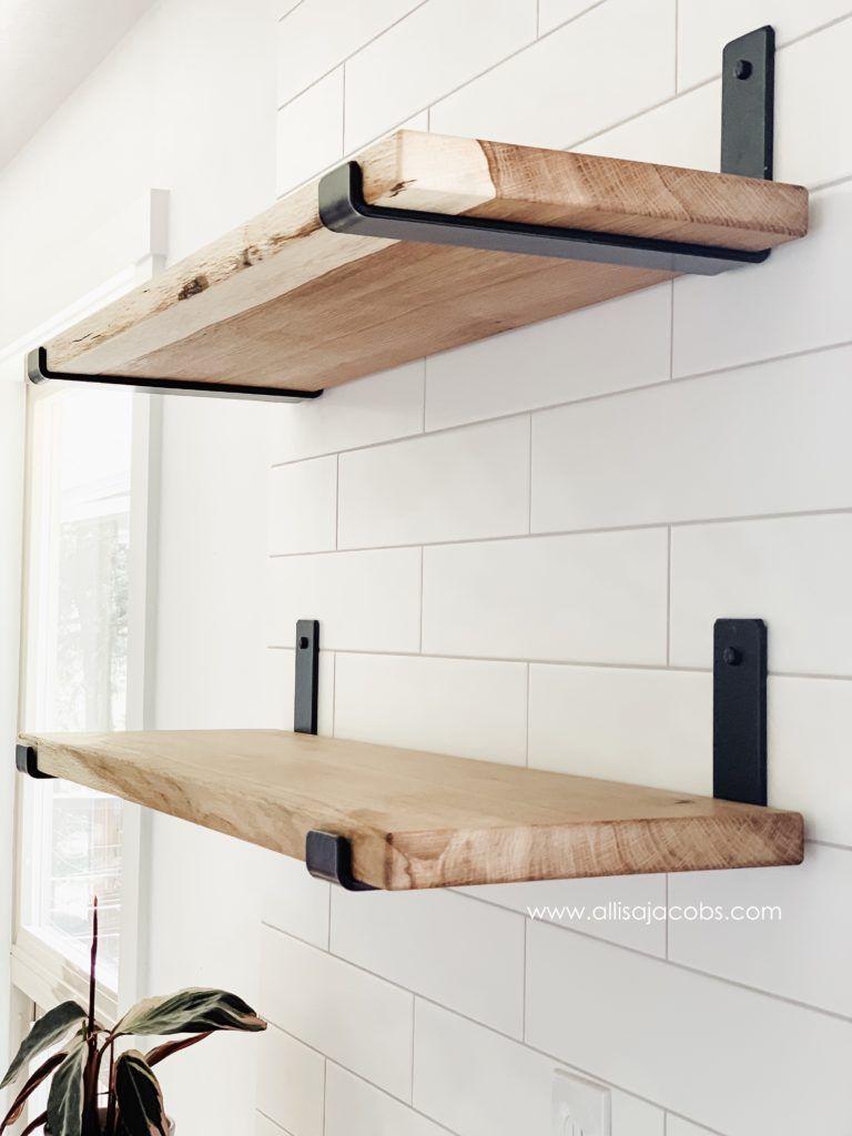 How To Make Open Shelving A Diy Wood Shelf Tutorial Diy Wood Shelves Diy Wooden Shelves Shelves