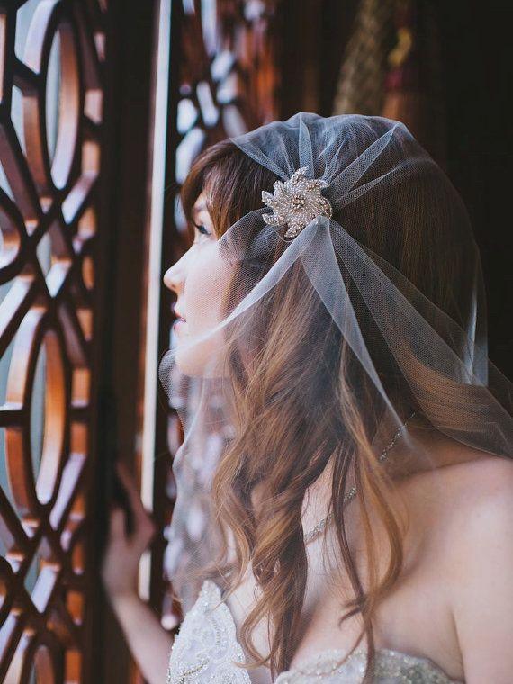 Juliet Cap Veil Bridal Veil Juliet Veil Art Deco veil Tulle Veil Great Gatsby Wedding Veil 1920/'s Style Long Vintage style Wedding Veil