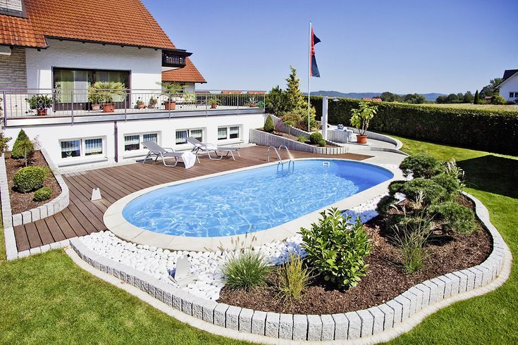 Oval Pool build yourself A dream pool oasis in your own garden pool is part of garden Pool Intex - Oval pool build yourself A dreamlike pool oasis in your own garden pool badelaune Source by badelaune
