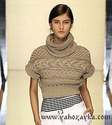 Короткий пуловер схема